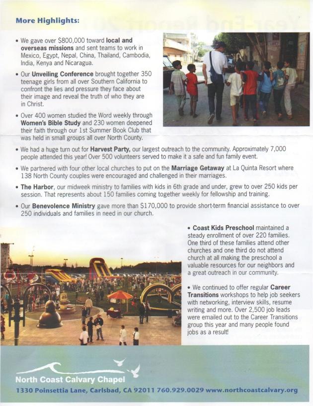 North Coast Calvary Church Annual Report 2
