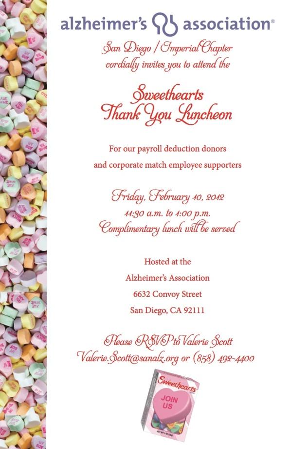 Thank you Sweethearts Luncheon 021012