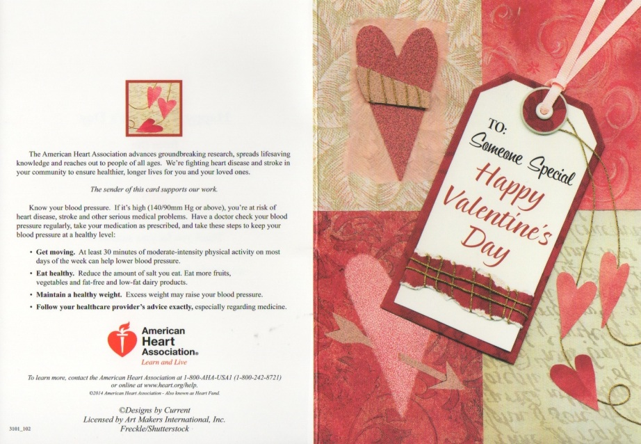 Valentine's Day Card from American Heart Association 1