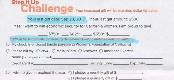 non profit donation card template