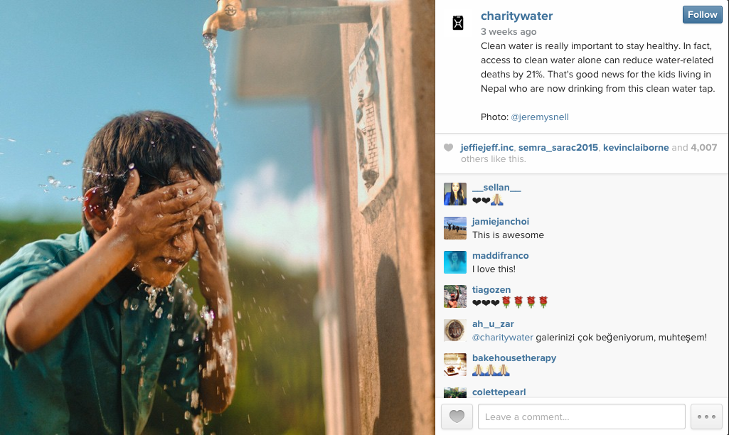 Charity Water Instagram Post Blog