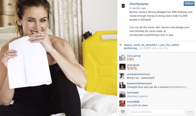 Charity Water Instagram Post Celebrity