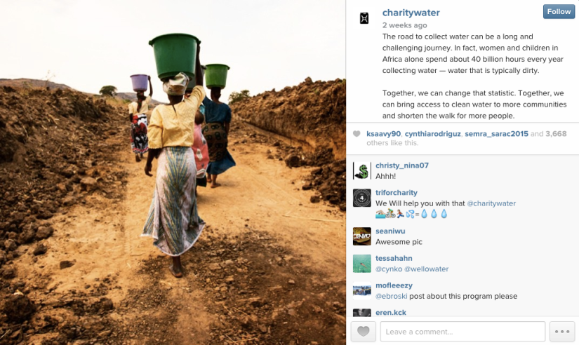 Charity Water Instagram Post Need