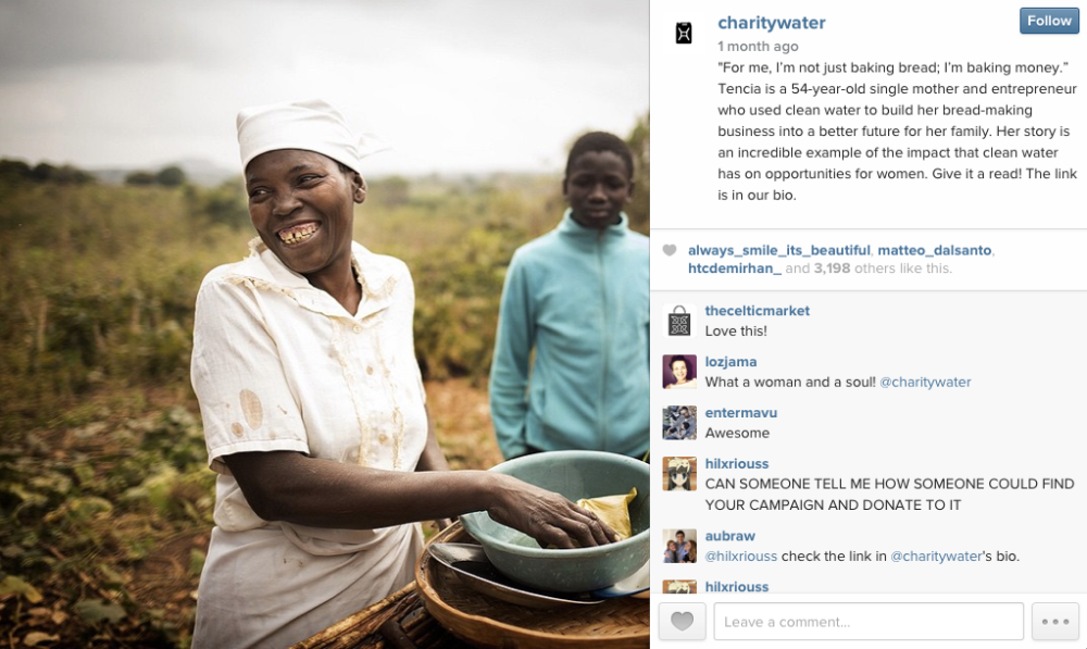 Charity Water Instagram Post Success Story 1