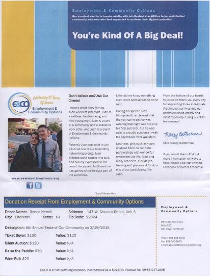 E&CO Donation Receipt