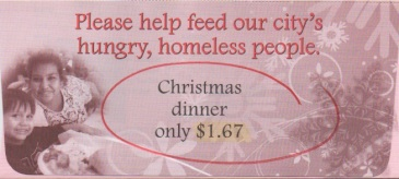 SD Rescue Mission Donation card monthly giving option