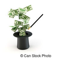 money-from-nowhere-magic-stock-illustration_csp3929636